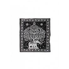 Batik Tuch Elephant Tree, Gross 220 x 240 cm